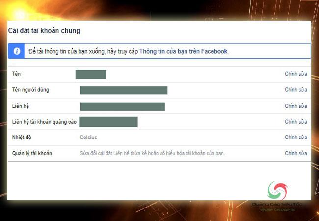 chuyển facebook cá nhân thành fanpage cần tải xuống thông tin cá nhân trước