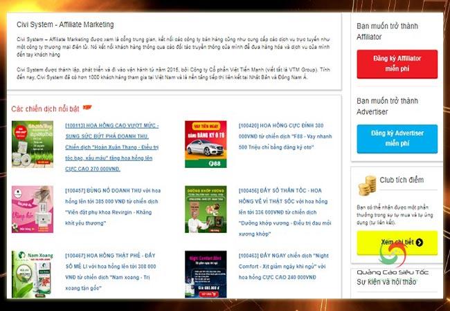 Civi- Kênh affiliate mới nhất tại Việt Nam