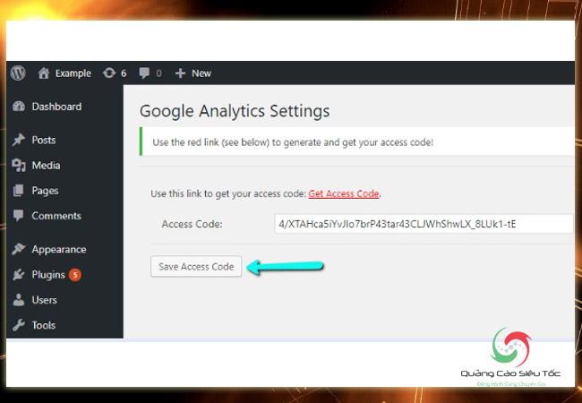 Chèn code Google Analytics vào Wordpress trực tiếp trên website