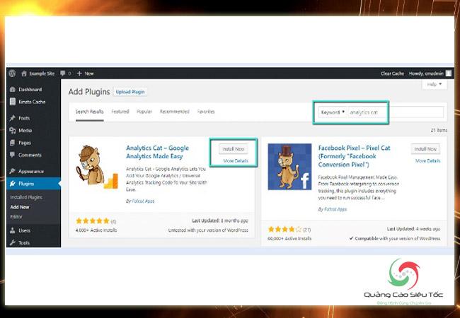 Chèn code Google Analytics vào Wordpress bằng plugin