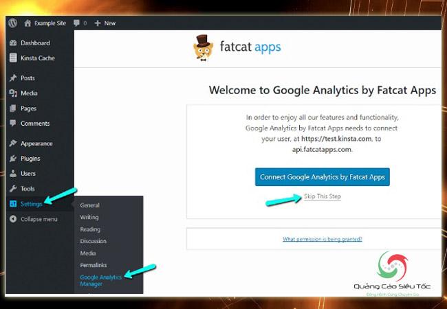 Chèn code Google Analytics và o Wordpress bằng Analytics Cat