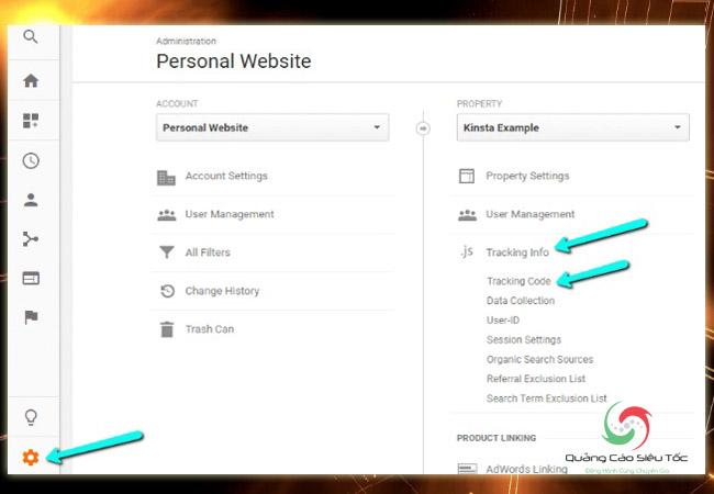 Chèn code Google Analytics vào Wordpress- Cách lấy ID theo dõi