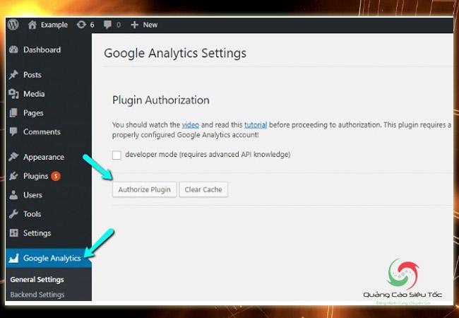 Chèn code Google Analytics vào Wordpress bằng cách sử dụng tiện ích mở rộng