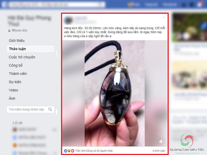 Đăng bài trong Group Facebook cùng lĩnh vực kinh doanh