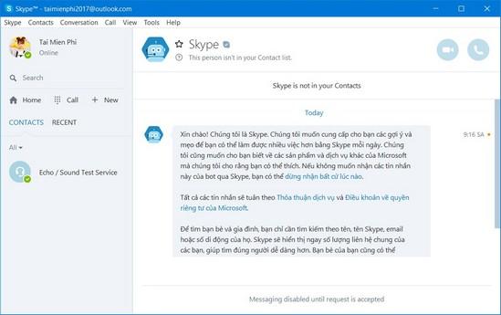 cách tạo tài khoản skype