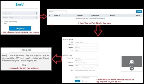 cách tạo zalo page
