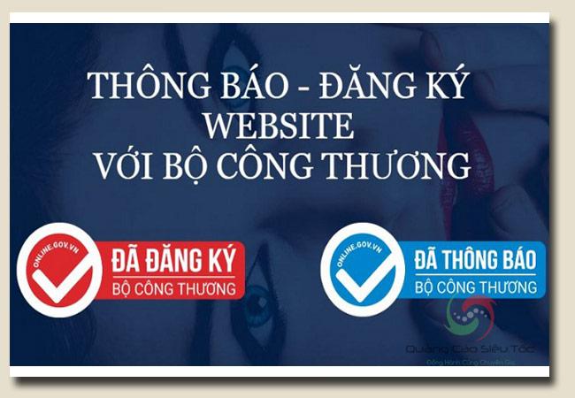 đăng ký website với bộ công thương khác với thông báo BCT như thế nào