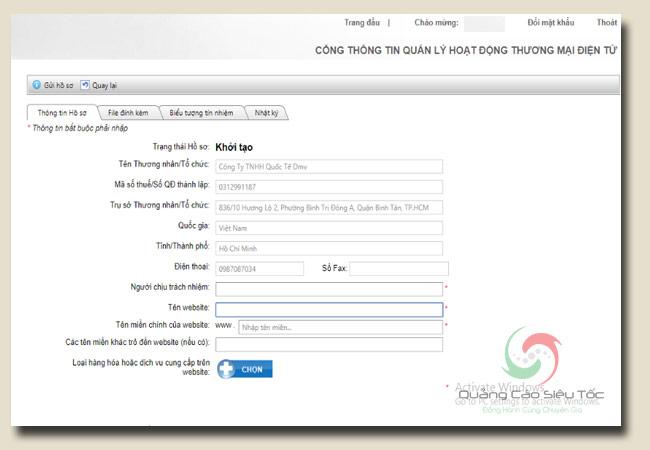 đăng ký website với bộ công thương hoàn toàn miễn phí