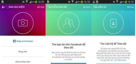 đăng nhập instagram qua facebook