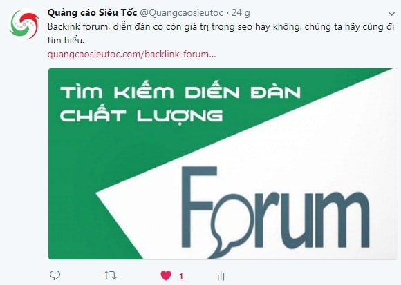 Đặt Backlink Mạng Xã Hội