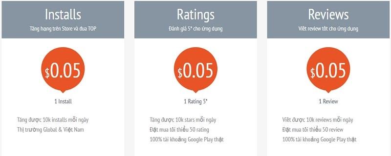 Dịch Vụ Tăng Lượt Tải Đánh Giá App