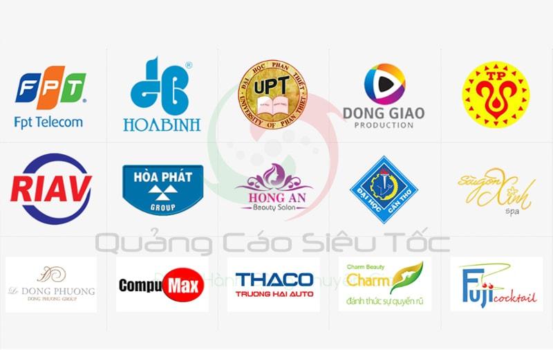Một số thương hiệu lớn đang là đối tác của Quảng Cáo Siêu Tốc