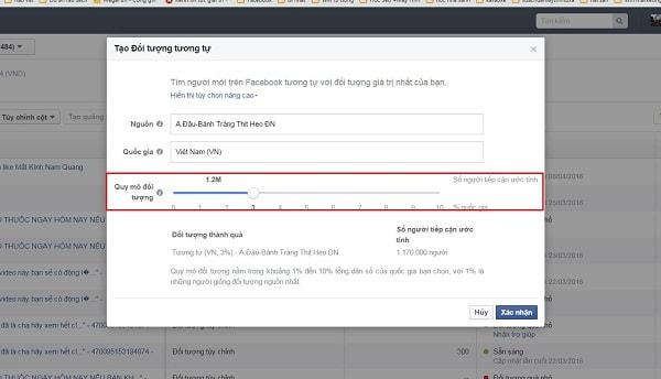 Tạo tệp đối tượng tùy chỉnh trong quảng cáo facebook
