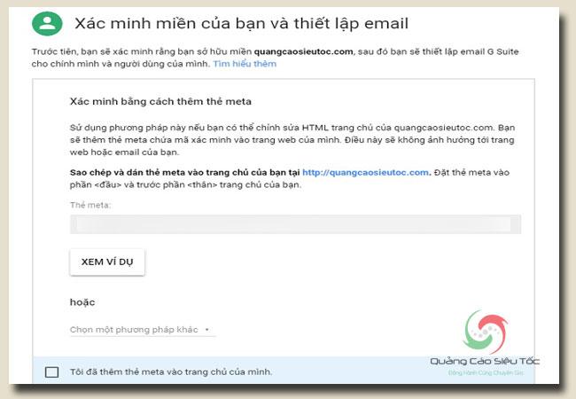 tạo email doanh nghiệp google và xác minh tên miền