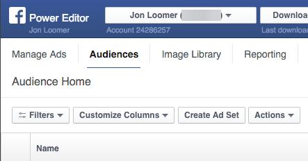 nham muc tieu quang cao facebook voi audience overlap tu Power editor
