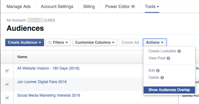 quang cao facebook voi facebook audience overlap