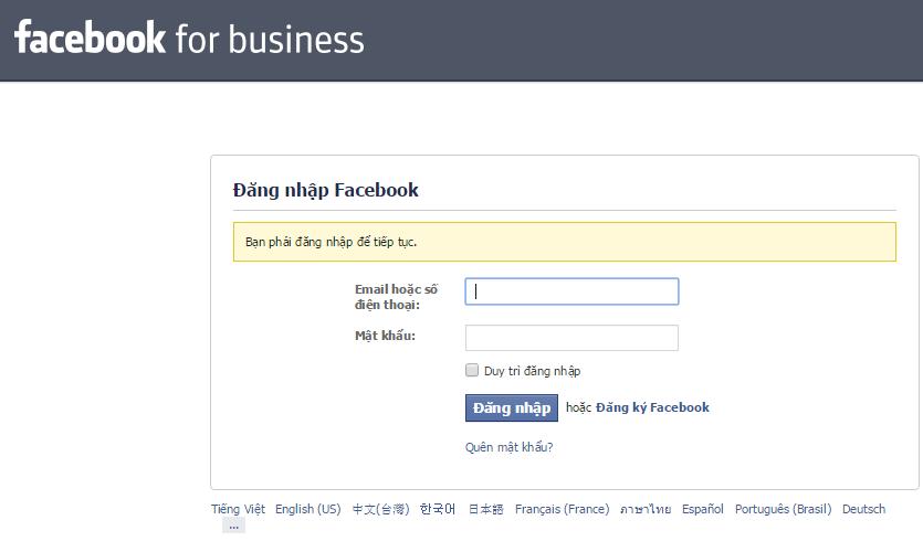 Tạo Facebook Business Manager với tài khoản Facebook cá nhân