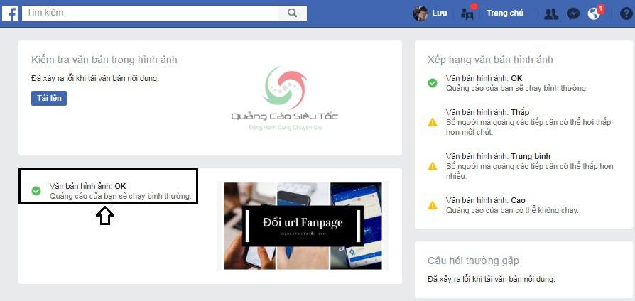 kiểm tra text quảng cáo facebook