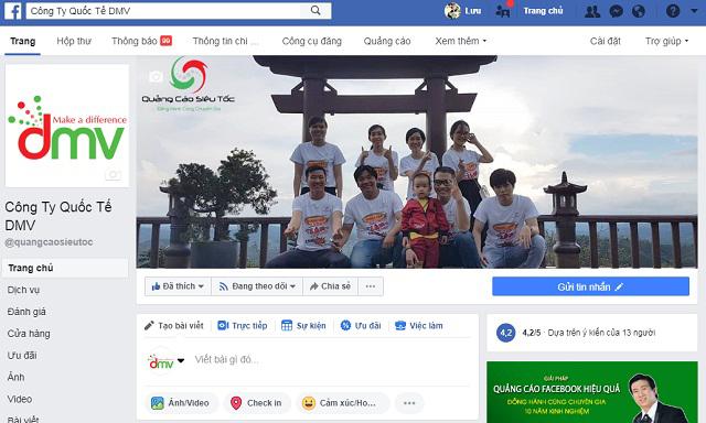 Trang fanpage Facebook