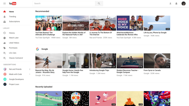 Youtube Điều Chỉnh Giao Diện Trang Chủ, Thêm Thiết Kế Mới