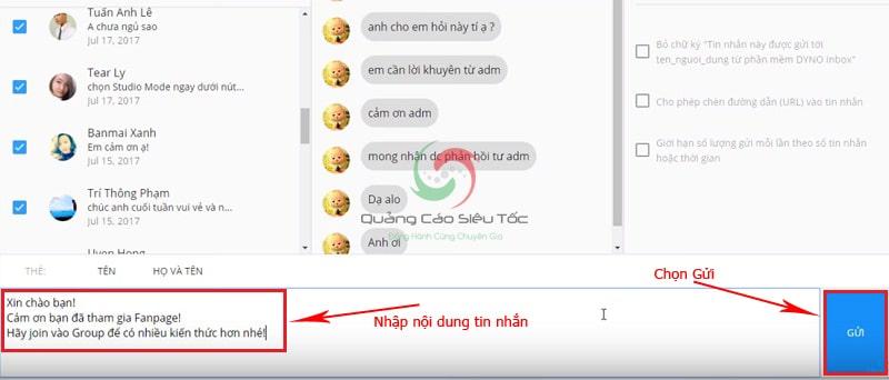 Cách gửi inbox hàng loạt trên fanpage Facebook