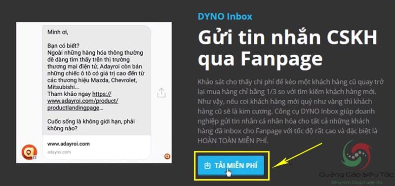 cách gửi tin nhắn hàng loạt trên fanpage