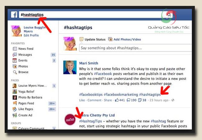 hashtag facebook có công dụng gì