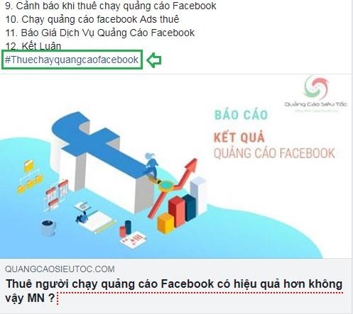 Đặt hashtag trên Facebook