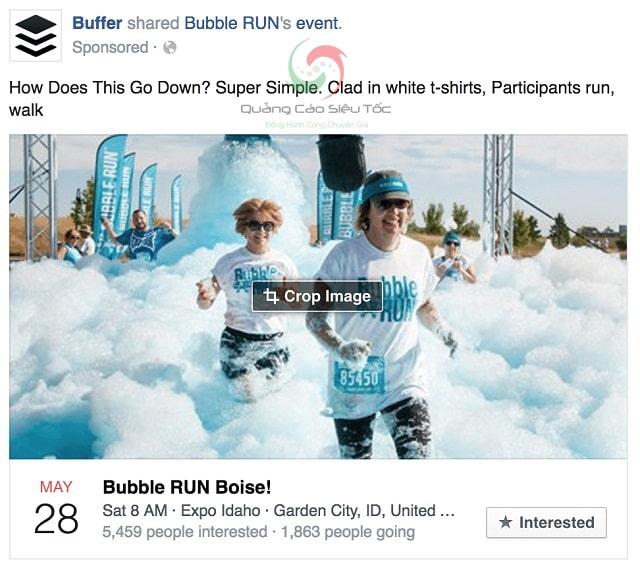 Quảng cáo sự kiện trên Facebook