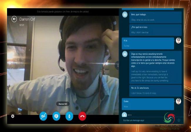 Học tiếng anh qua Skype bằng tính năng tin nhắn tức thì