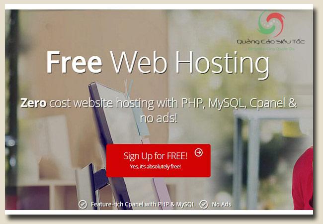 host miễn phí tại trang 000webhost