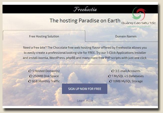 host miễn phí tại trang freehostia