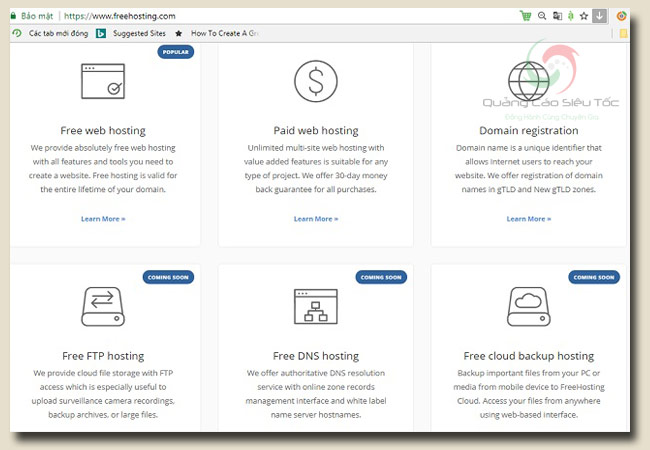 host miễn phí tại trang freehosting băng thông không giới hạn