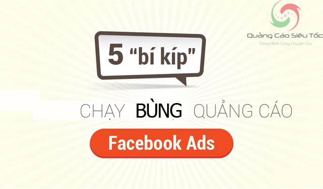 Cách bùng tiền Facebook Ads