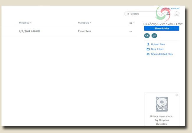 Hướng dẫn sử dụng dropbox để chia sẻ cả thư mục
