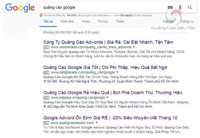 Quảng cáo Google hiển thị ở những vị trí nào