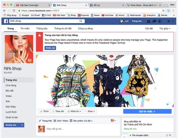 lỗi không đăng bài trên facebook được