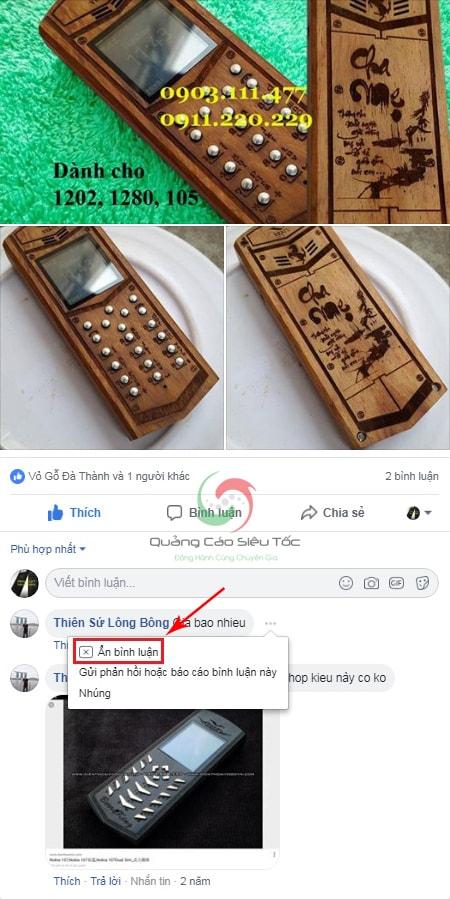 không cho người khác xem comment trên facebook