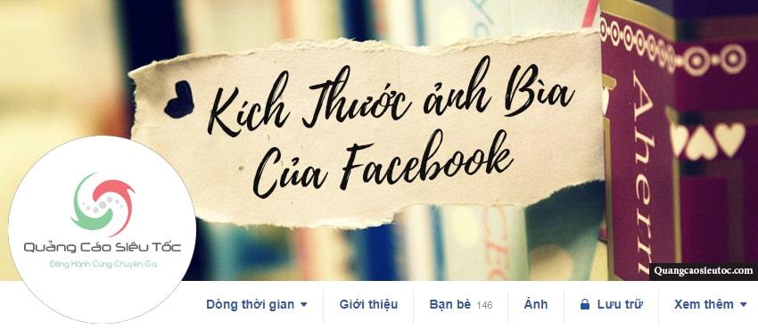 Kích thước ảnh bìa Facebook tiêu chuẩn