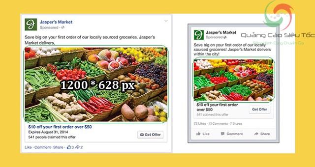 kích thước ảnh bài viết facebook