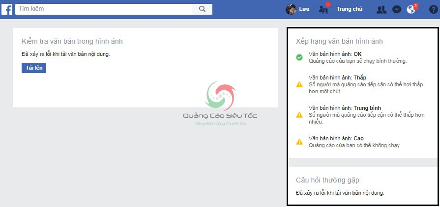 kiểm tra 20% text facebook