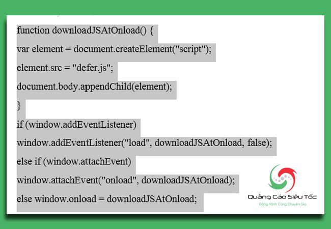 kiểm tra tốc độ website để tối ưu Javascript
