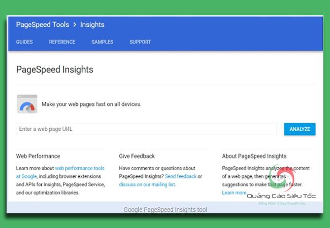 kiểm tra tốc độ website bằng PageSpeed Insights