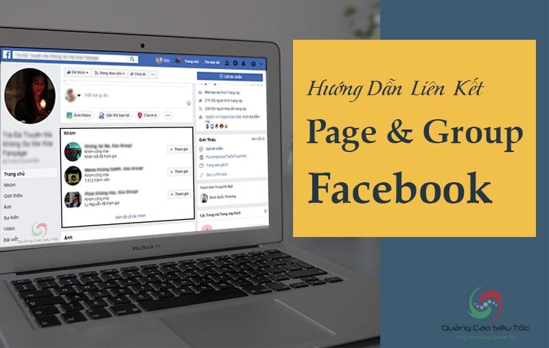 Cách liên kết nhóm với fanpage trên facebook