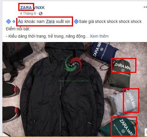 lỗi vi phạm bản quyền thương hiệu