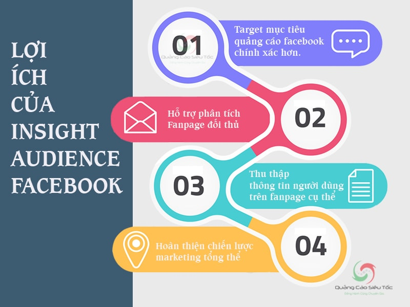 Infographic tổng hợp công dụng của Audience Insight Facebook