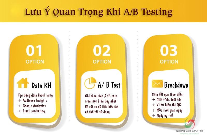Infographic tổng hợp những lưu ý khi testing A/B