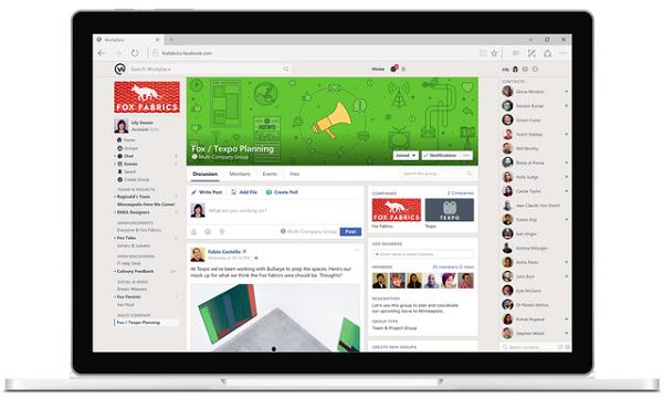 Mạng Xã Hội Workplace Chính Thức Được Facebook Trình Làng