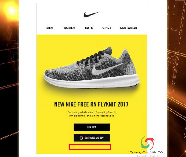 Mẫu email marketing mẫu của Nike