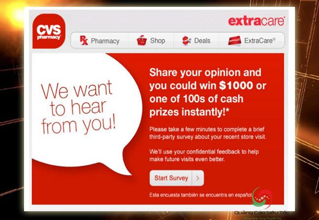 Mẫu email marketing dành cho khảo sát